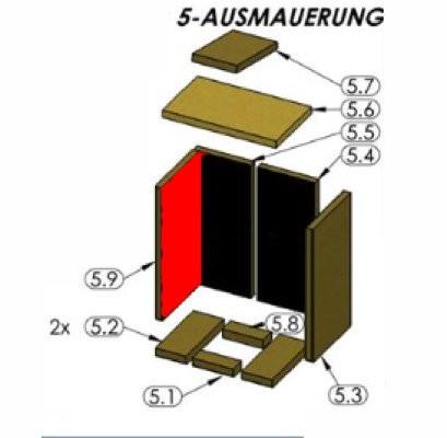 Oranier Astra 5 Seitenstein links Brennraumstein