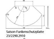 Olsberg Saison-Funkenschutzplatte B