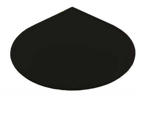 Metallbodenplatte Tropfen 1100 x 1100 mm schwarz
