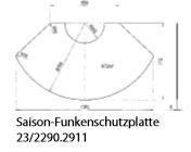 Olsberg Saison-Funkenschutzplatte C